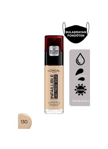 L'Oréal Paris Infaillible 24H Fresh Wear Uzun Süre Kalıcı Fondöten - 130 True Beige Bej